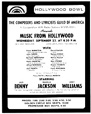 """Music from Hollywood"" Program, 1963"